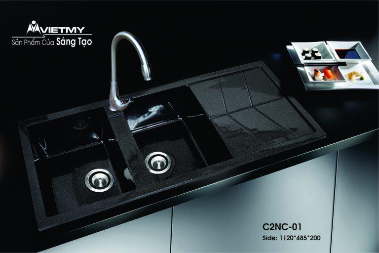 Chậu rửa đá nhân tạo mã C Việt Mỹ Model C2NC-01