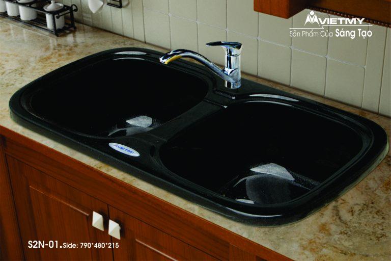 Chậu rửa đá nhân tạo mã S Việt Mỹ Model S2N-01