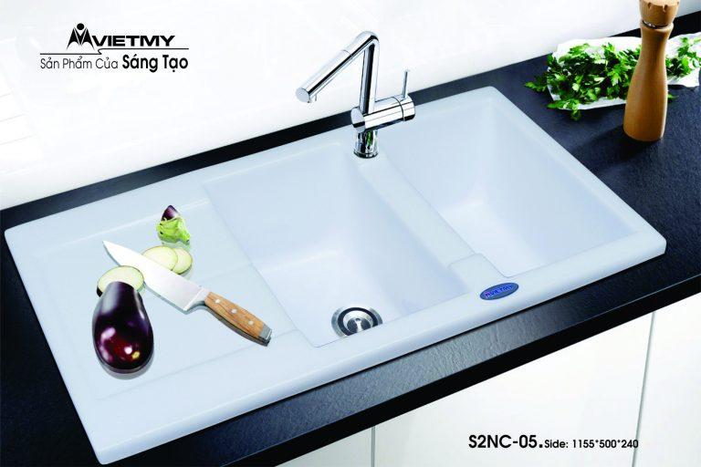 Chậu rửa đá nhân tạo mã S Việt Mỹ Model S2NC-05